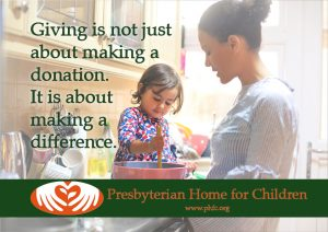 Giving is about making a difference